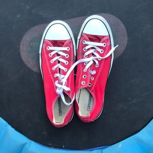 Red Converse All-Stars men's size 11